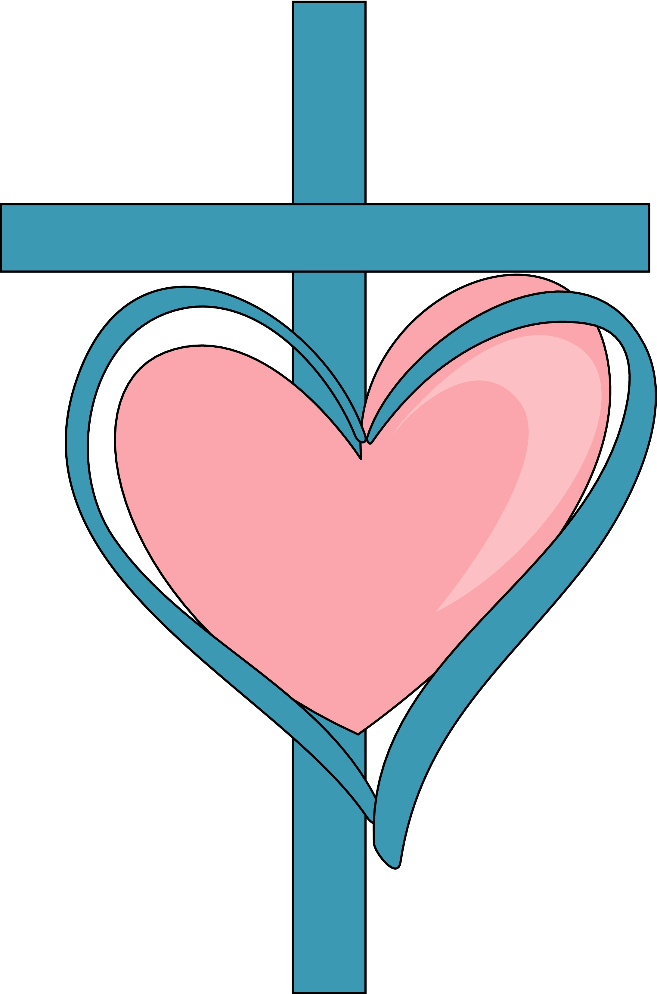 free cross and heart clipart - photo #16